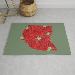Ohio in Flowers Rug