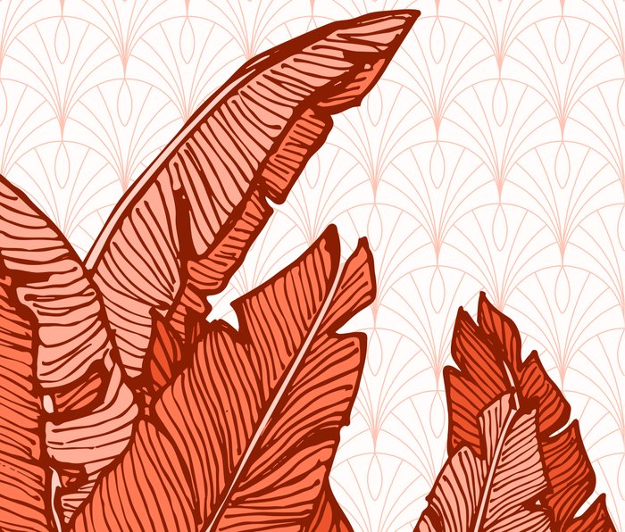 Red Tropical Leaves #society6 #decor #buyart Metal Travel Mug