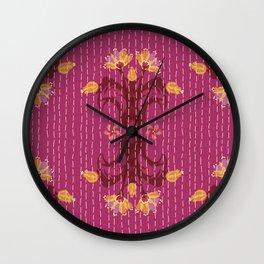 Kantha bouquet 5 Wall Clock