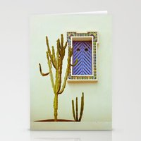cactus Stationery Cards featuring Cactus by Sébastien BOUVIER