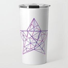 Purple Geometric Star Travel Mug
