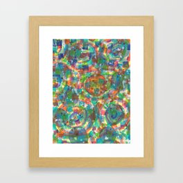 Circles And Squares under Clouds Framed Art Print