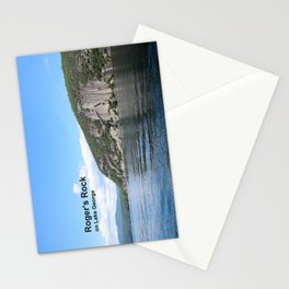 Roger's Rock on Lake George in the Adirondacks Stationery Cards