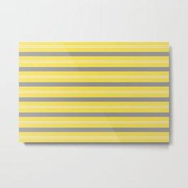 Stripes Thick and Thin Horizontal Line Pattern V2 Metal Print