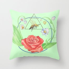 The Sacred Queen Throw Pillow