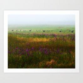 Hidden in the Mist Art Print