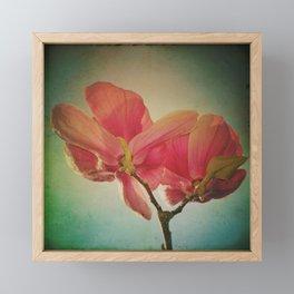 Vintage Spring Flowers Framed Mini Art Print
