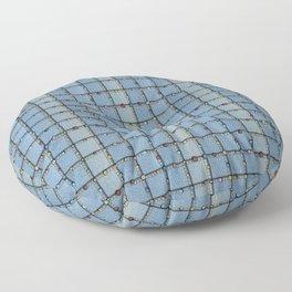 Blue Denim Patchwork Floor Pillow
