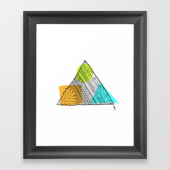 Triangle Doodle Framed Art Print