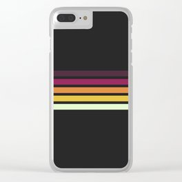 Sunset Retro Stripes Clear iPhone Case