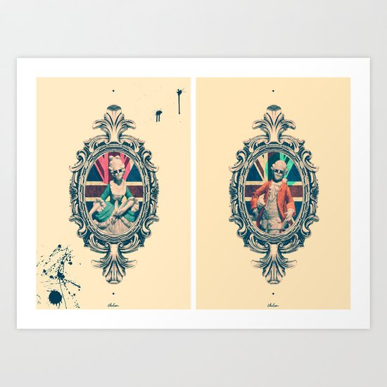 Bourgeoisie Man and Woman Art Print
