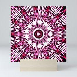 Pink White Black Explosion Mini Art Print