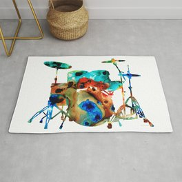The Drums - Music Art By Sharon Cummings Rug