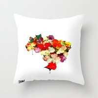 brasil Throw Pillows featuring brasil by EDSON RAMOS