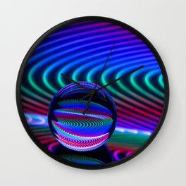 Colours in the glass Wall Clock