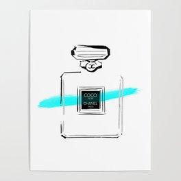 Blue perfume Poster