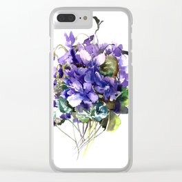 Violet flowers, wild violet flowers Clear iPhone Case