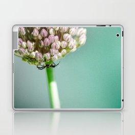 Spider in a Garlic Flower Laptop & iPad Skin