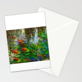 """Water Lillys"".[digital impressionism] © 2019 Dwight Collman MD Stationery Cards"