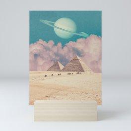 Pink Clouds - Space Aesthetic, Retro Futurism, Sci Fi Mini Art Print