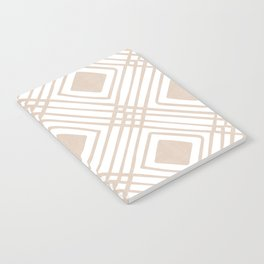 Criss Cross Diamond Pattern in Tan Notebook