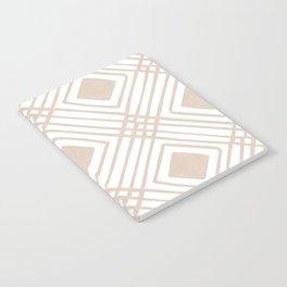Criss Cross Diamond Pattern in Tan Notebook