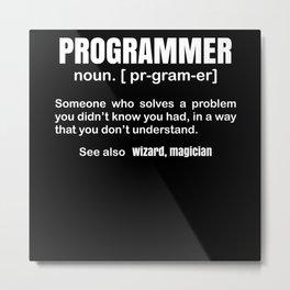 Programmer Definition Metal Print