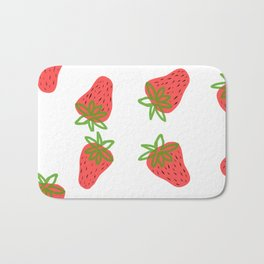 Strawberry fields Bath Mat