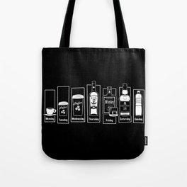 Coffee Whiskey Calendar Tote Bag