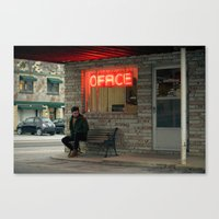 the office Canvas Prints featuring Office by Christopher Morley