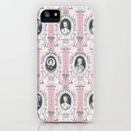 Science Women Toile de Jouy - Pink iPhone Case