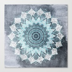 BOHOCHIC MANDALA IN BLUE Canvas Print