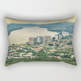 Aerial View of Guayaquil from Window Plane Rectangular Pillow