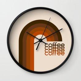 Cocoa Coffee Rainbow Wall Clock