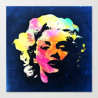 marilyn Canvas Prints featuring Marilyn by Fimbis