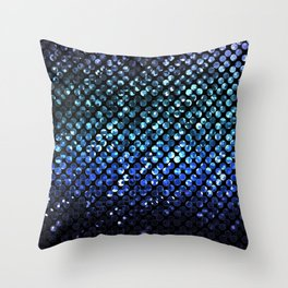 Crystal Bling Strass Blue G312 Throw Pillow