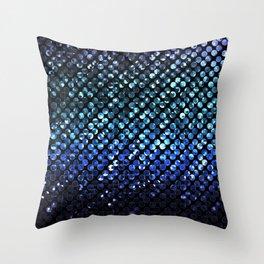 Crystal Bling Strass Blue G312 Throw Pillow