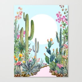 cactus path 1 Canvas Print