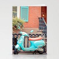 vespa Stationery Cards featuring Vespa  by Carmen Moreno Photography