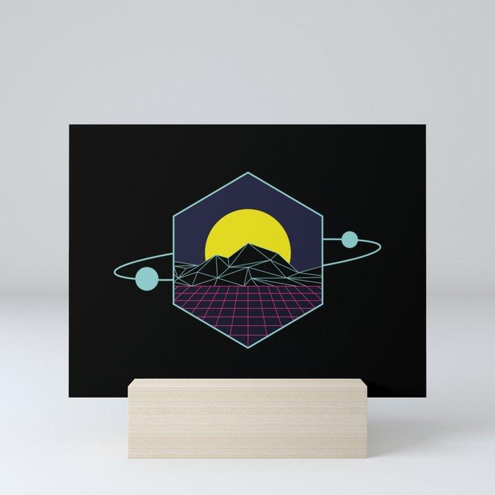Outrun to the Sun / Spacewave / 80s Retro Mini Art Print