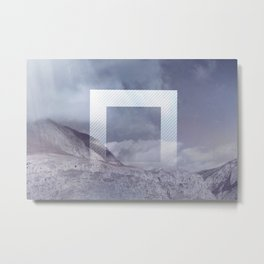 The Portal between the Mountains Metal Print