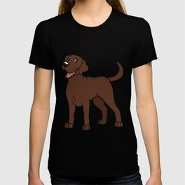 Happy Chocolate Lab T-shirt