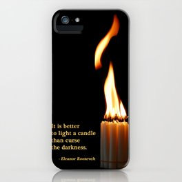 A Candle Against The Dark iPhone Case
