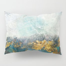 Lapis - Contemporary Abstract Textured Floral Pillow Sham