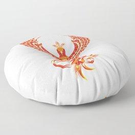 Mythical Phoenix Bird Floor Pillow