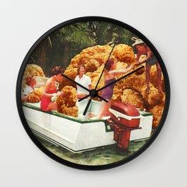 Fried chicken drive-thru Wall Clock