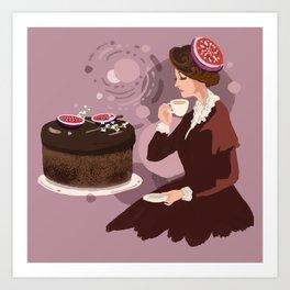 Coffee Fig Cake  Art Print
