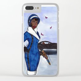 Miss Ross Clear iPhone Case