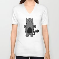 kitty V-neck T-shirts featuring Kitty by Studio14