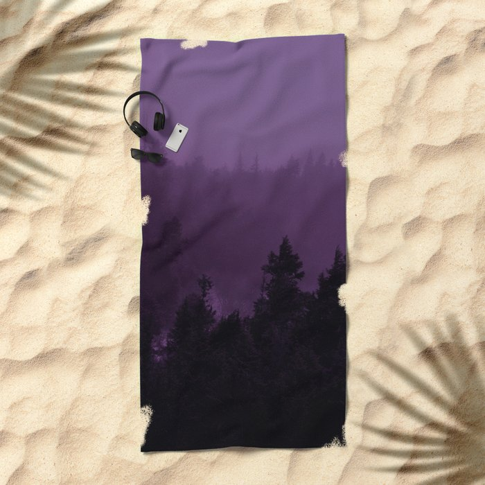 Purple Fog Beach Towel